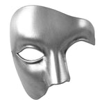 Silver Mens Phantom Of The Opera Masquerade Mask
