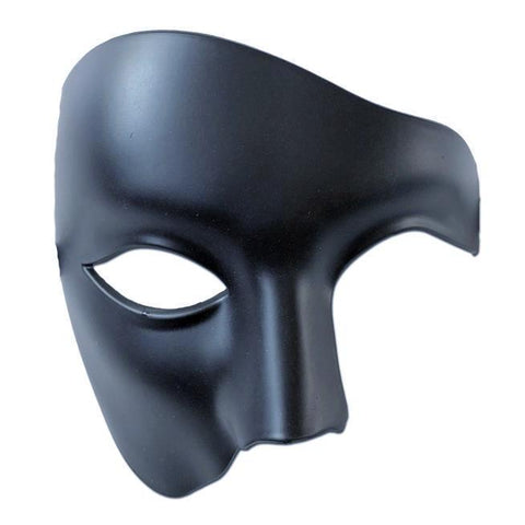 Black Mens Phantom Of The Opera Masquerade Mask
