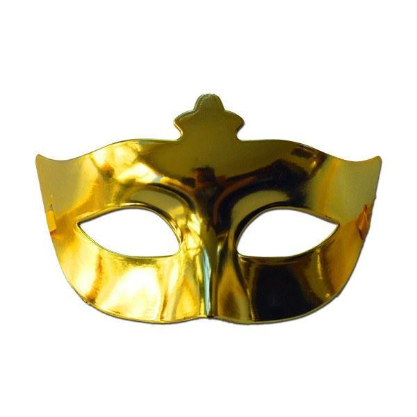 Gold Plain Scout Masquerade Mask adult one size, fancy dress, gold, mardi gras, masks, masquerade, mens, venetian, womens