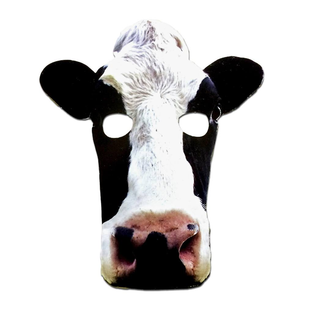 Cow Cardboard Cutout Mask - Cardboard Cutout Mask - Simply Party Supplies