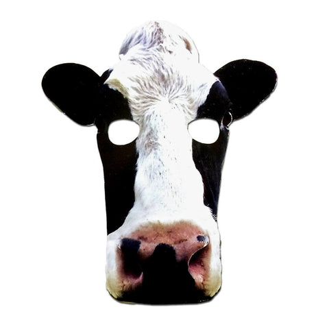 Cow Cardboard Cutout Mask