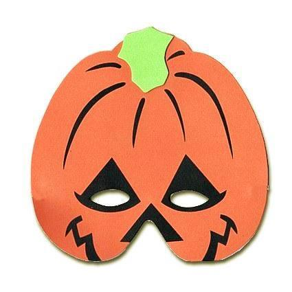 Pumpkin Childrens Foam Animal Mask