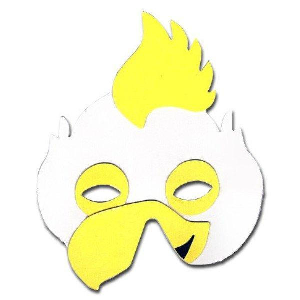 Childrens Masks - Rooster Childrens Foam Animal Mask With Yellow Comb
