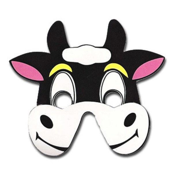 Bull Childrens Foam Animal Mask - Happy Face animals, boys, child one size, childrens, fancy dress, foam, girls, half masks, masks