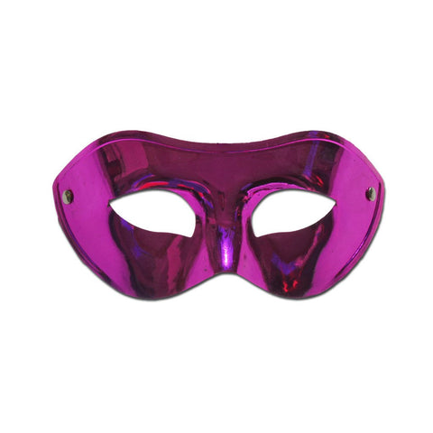 Basic Shiny Pink Masquerade Mask - Masquerade Mask - Simply Party Supplies