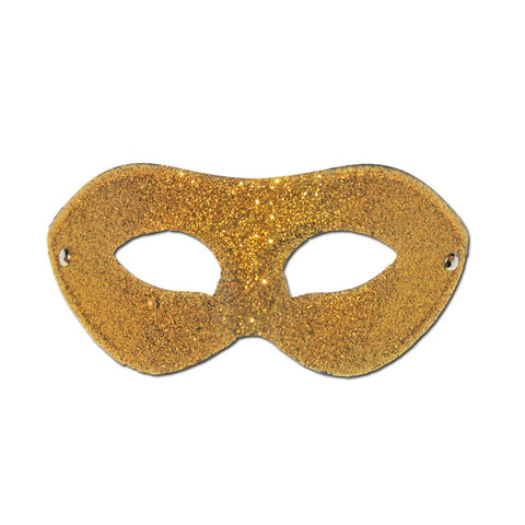 Basic Gold Glitter Masquerade Mask - Masquerade Mask - Simply Party Supplies