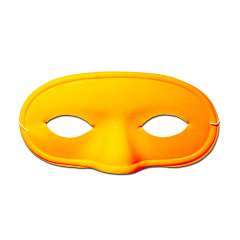 Plastic Neon Orange Domino Masquerade Mask