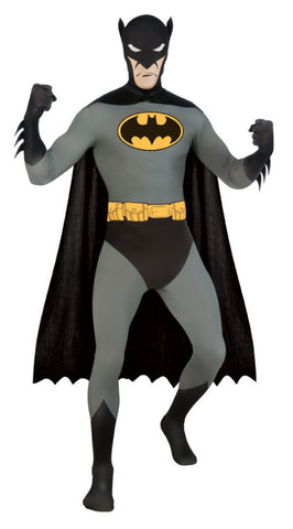 Batman 2nd Skin Fancy Dress Costume - 2nd Skin Zentai Suit - Simply Party Supplies