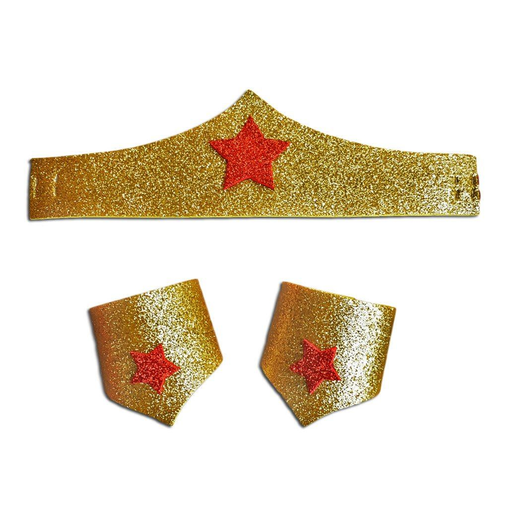 Children's Wonder Woman Headband and Cuffs - Fancy Dress Costume - Simply Party Supplies