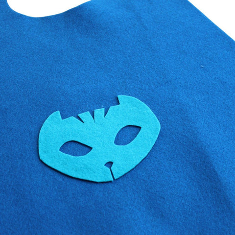 Fancy Dress Costume - Children's Superhero Cape Set - Blue Cat Boy