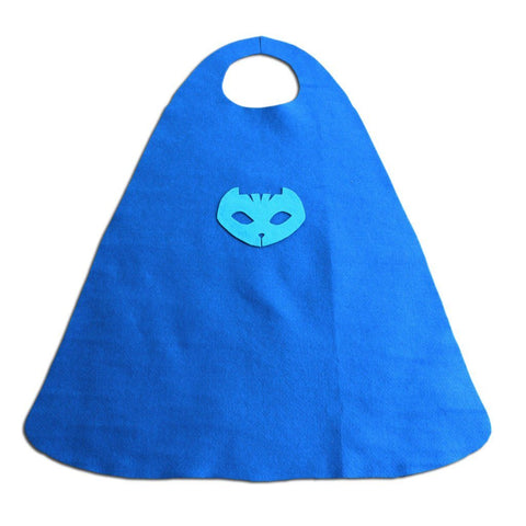 Children's Superhero Cape Set - Blue Cat Boy - Fancy Dress Costume - Simply Party Supplies