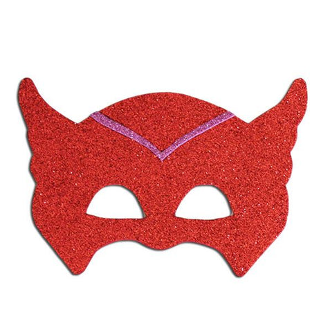 Children's Superhero Owl Mask child one size, childrens, fancy dress, foam, girls, glitter, heroes, mask, owl, owlette, pink, PJ masks, pjmasks, red, superhero, superhero mask