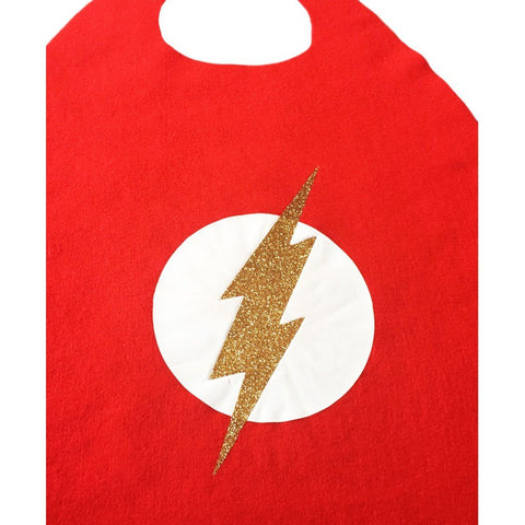 Children's Superhero Cape Set - Flash Girl - Fancy Dress Costume - Simply Party Supplies