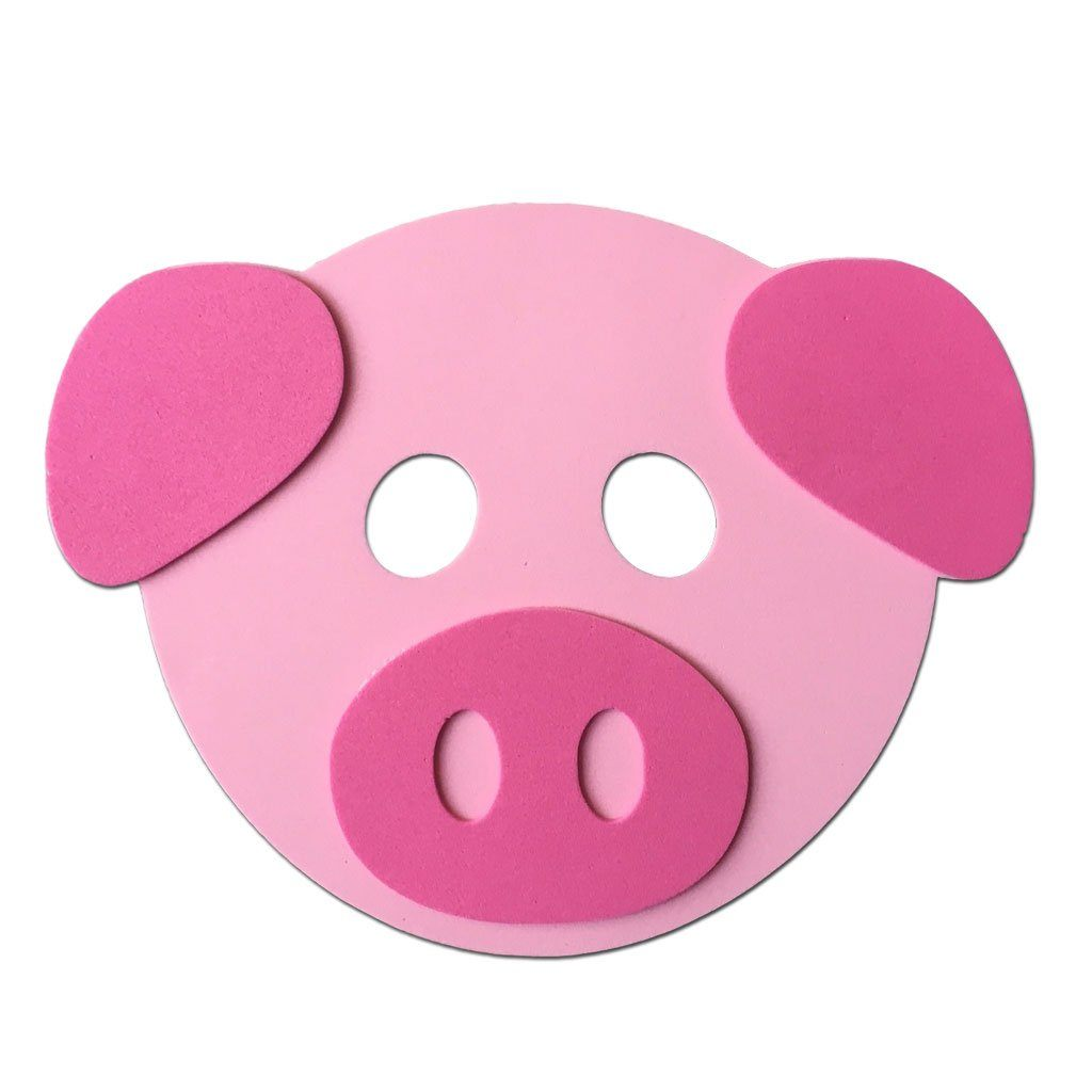 Childrens Masks - Pig Light Pink Childrens Foam Animal Mask