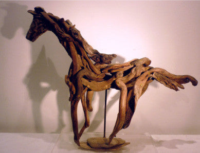 'Space' Driftwood Horse for Interior