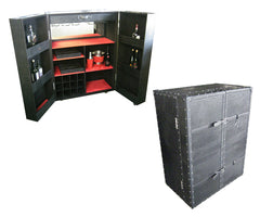 Small Leather-bound Horseshoe Bar Unit