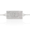 Tennis Court Bracelet w/Cubic Zirconia, 12x24mm Curved - studio-margaret