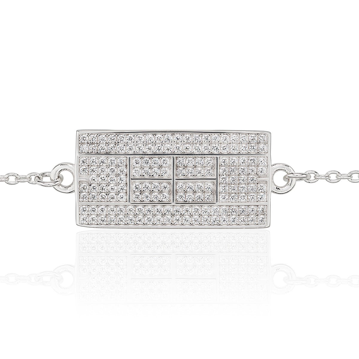 CZ Tennis Court Anklet Medium