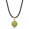 Enamel Tennis Ball with Cubic Zirconia Pendant