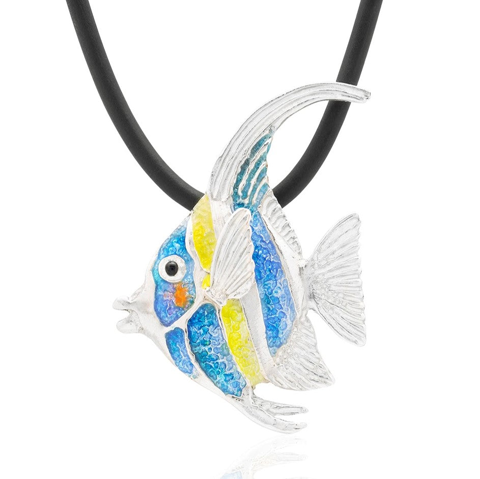 Glass Enamel Reef Fish Pendant