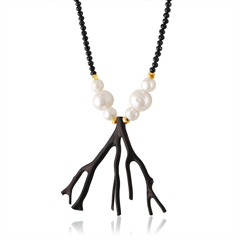 Black Branch Coral Necklace