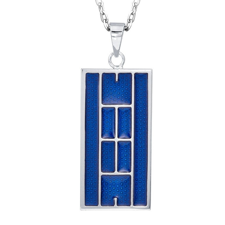 Enamel Tennis Court Pendant Large