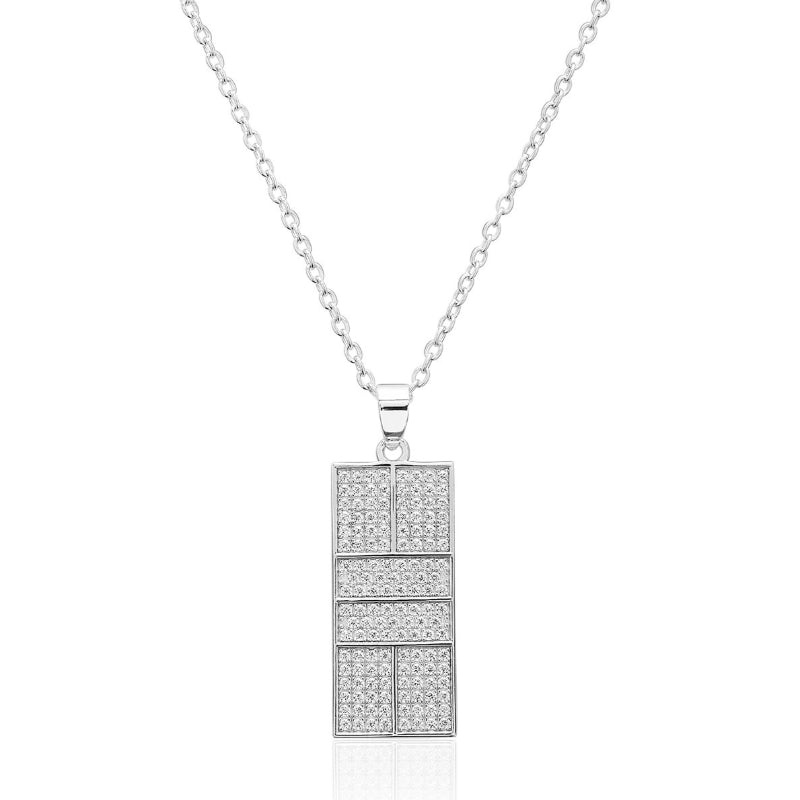 CZ Pickleball Court Pendant Medium