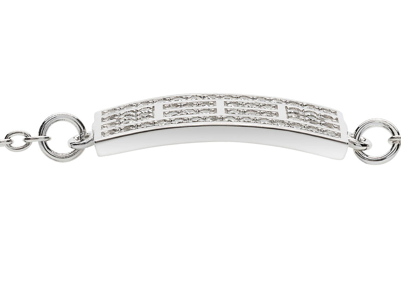 Tennis Court w/Cubic Zirconia Anklet, 12x24mm Curved