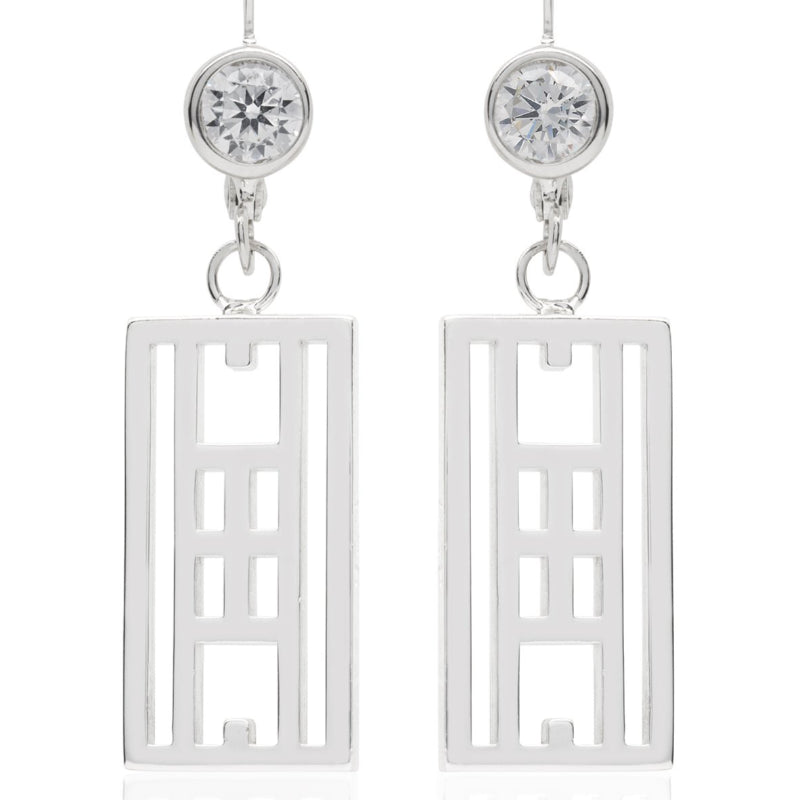 """Calling the lines"" Tennis Court Leverback earrings"