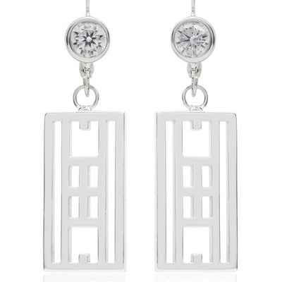 """Calling the lines"" Tennis Court Leverback earrings - studio-margaret"