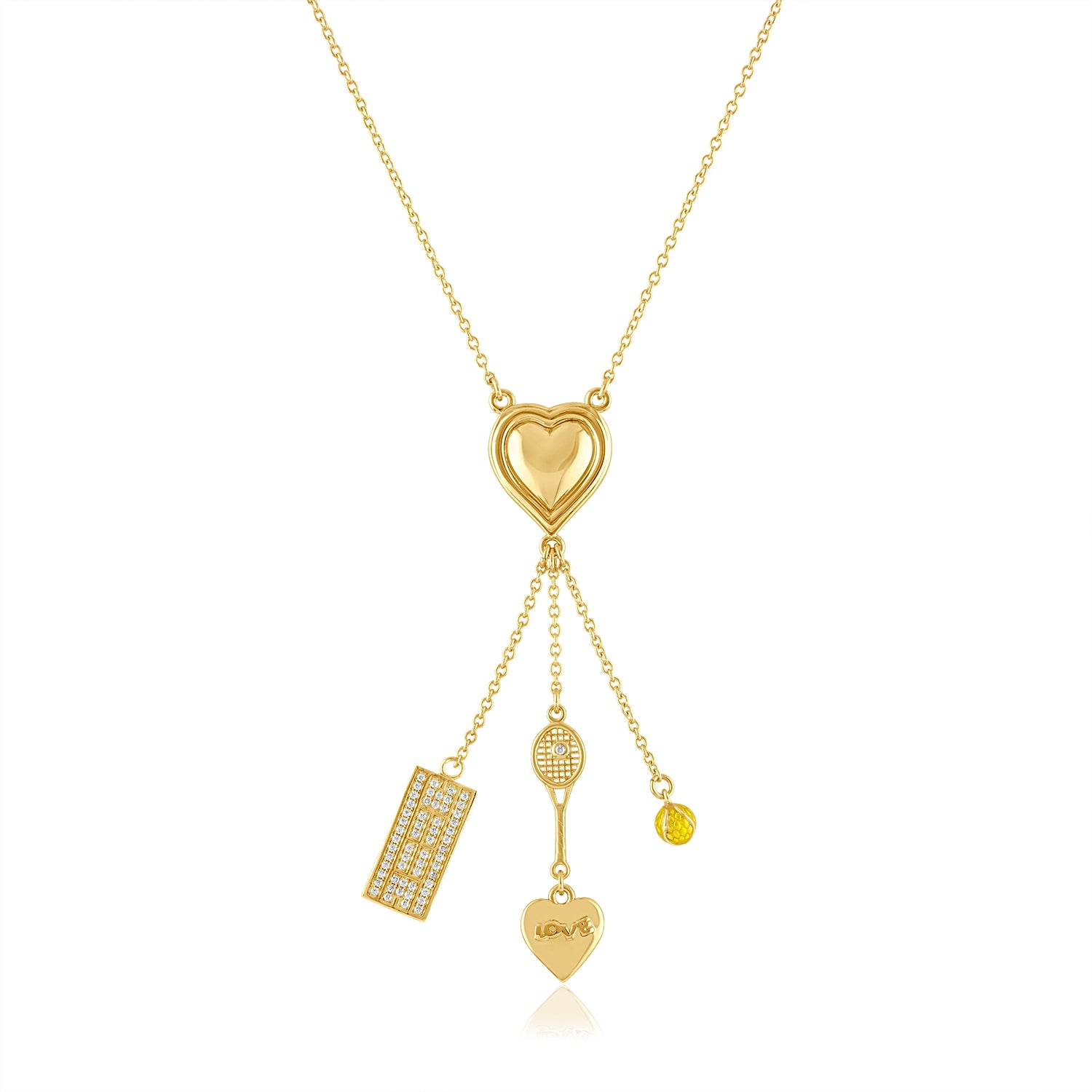 Tennis Charm Necklace
