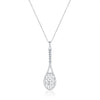 14Kt White Gold and Diamond Framed Tennis Racquet Pendant