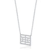 14kt White Gold Diamond Calling the Lines Necklace