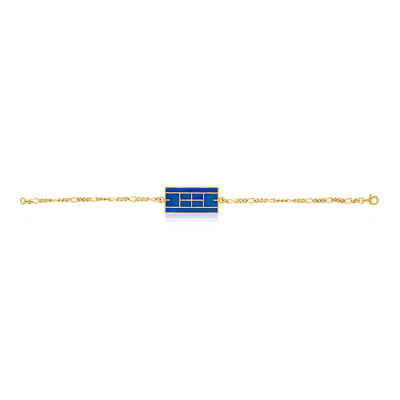 Enamel Tennis Court Men's Bracelet