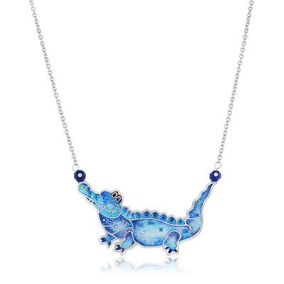 Enamel Limited Edition Alligator Necklace