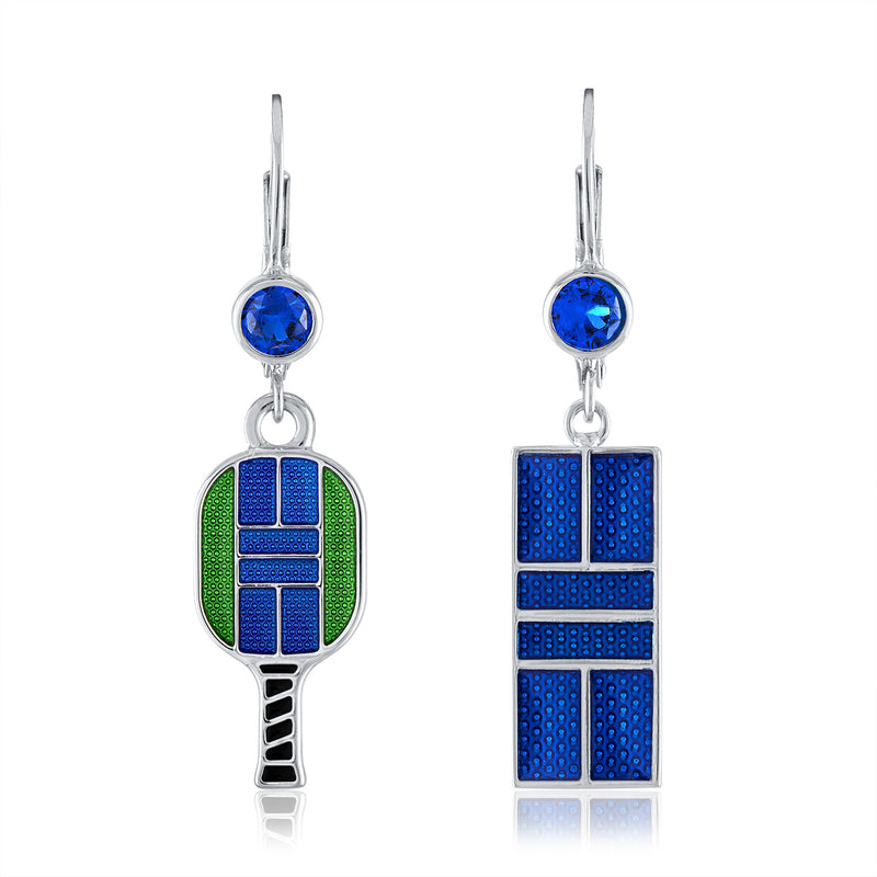 Enamel Pickle Court Earrings