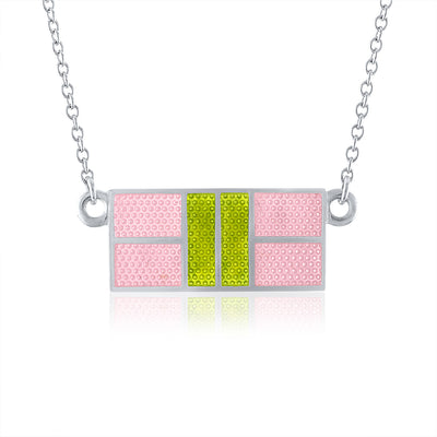 Enamel Pickle Court Necklace