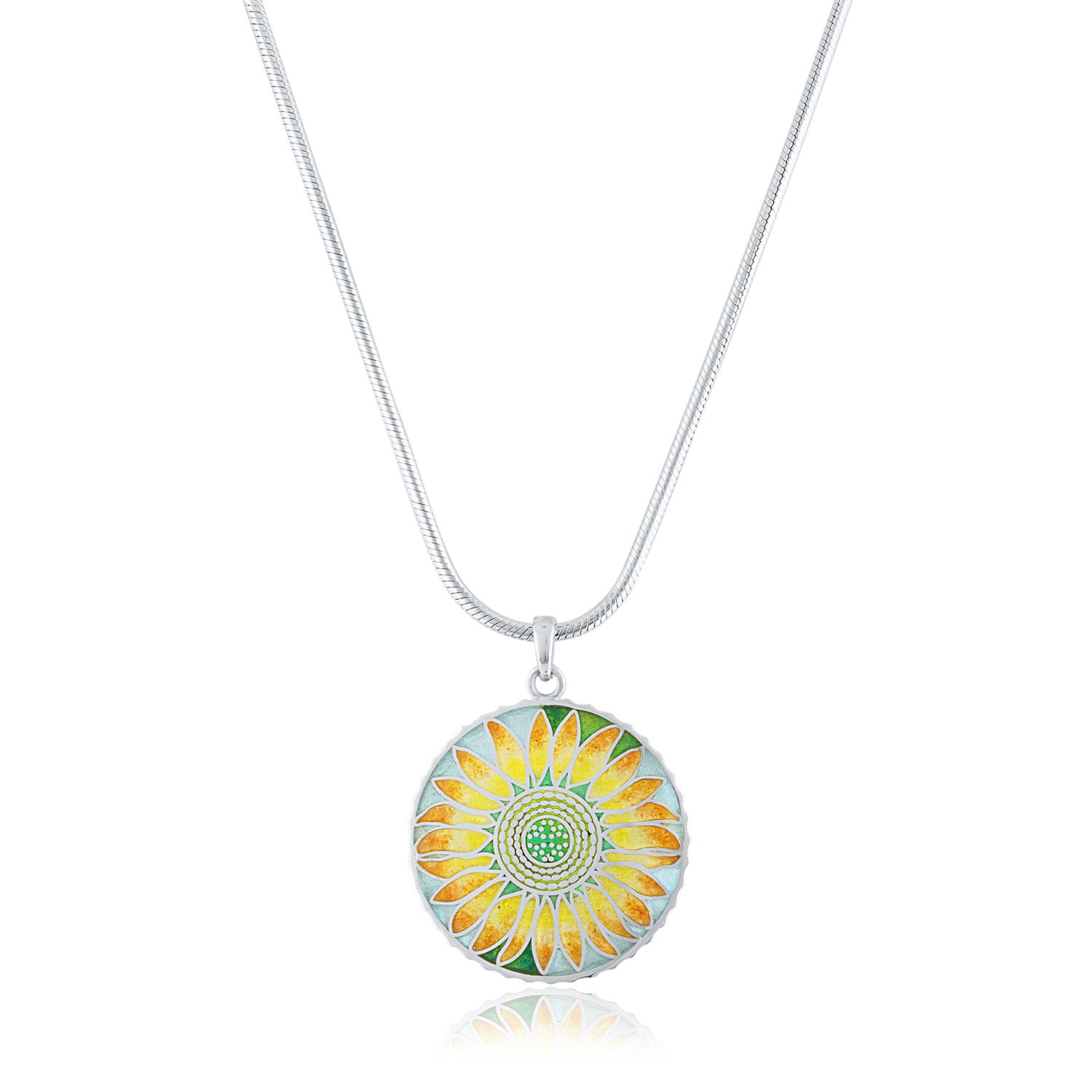 Enamel Limited Edition Flower Series Sunflower