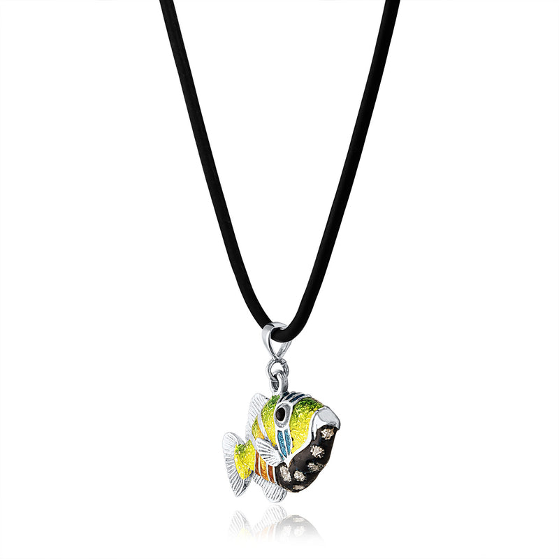 Glass Enamel Trigger Fish Pendant