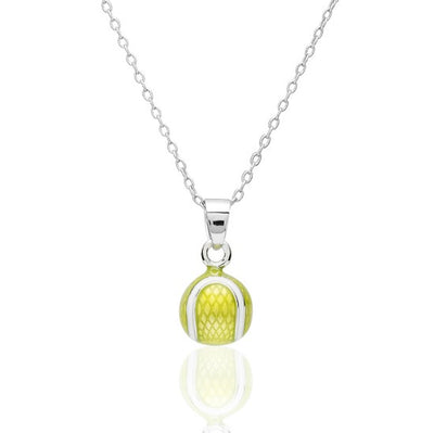 Enamel Tennis Ball Pendant Small