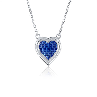 Glass enameled Heart Necklace