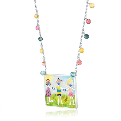 Enamel Limited Edition Covid Kids Necklace