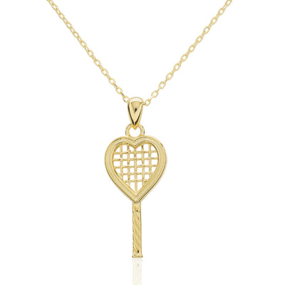 Heart Racquet Pendant Medium