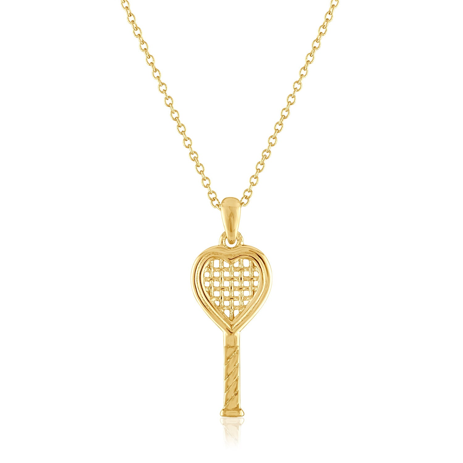 Heart Racquet Pendant Small