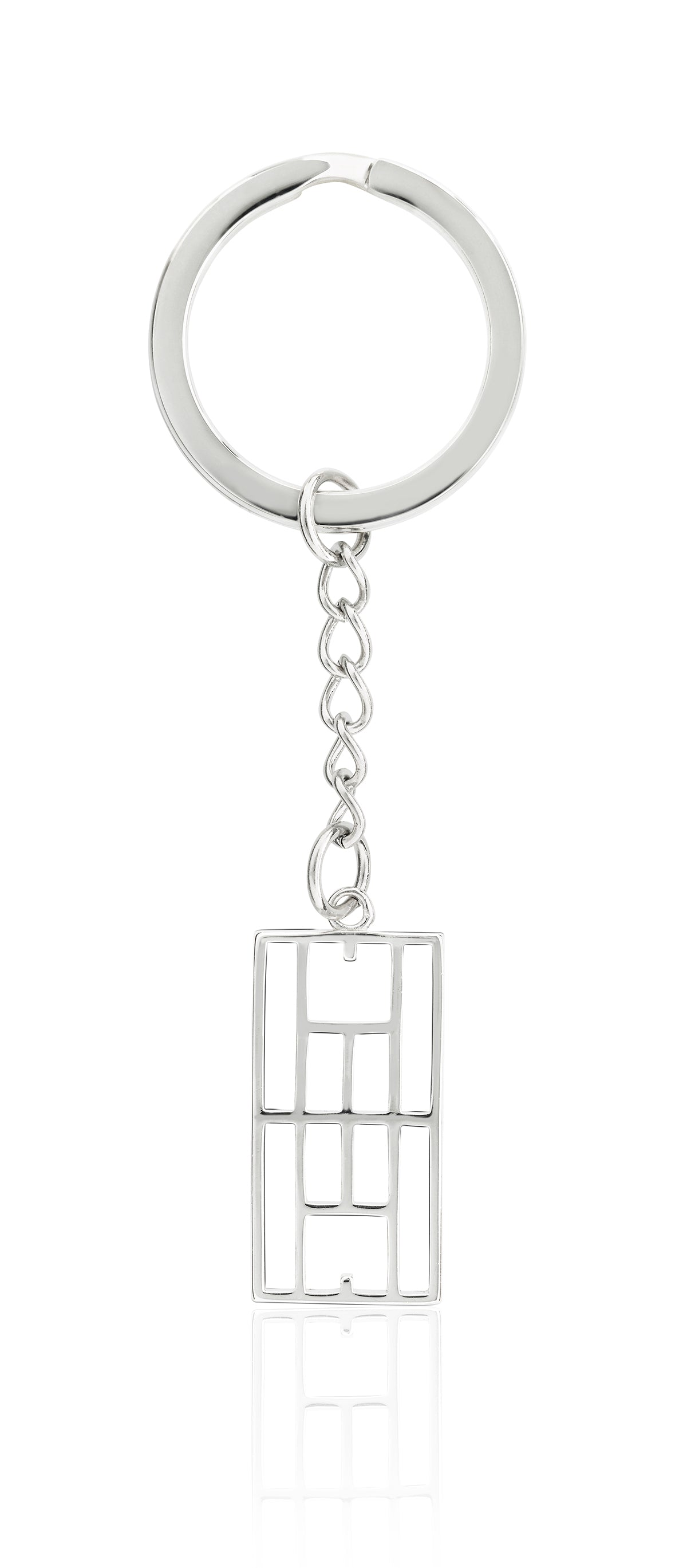 """Calling The Lines"" Tennis Court Keychain"