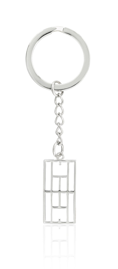 """Calling The Lines"" Tennis Court Keychain - studio-margaret"