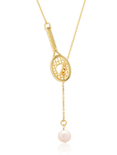 Love Racquet Lariat Necklace