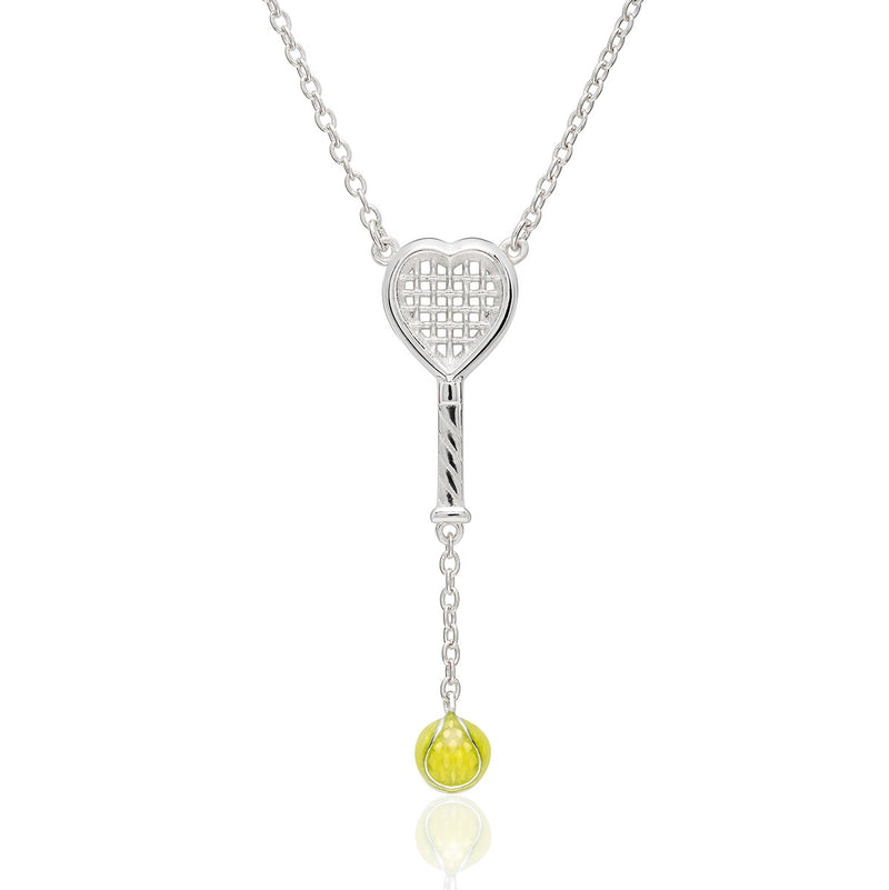 Heart Racquet Y Necklace