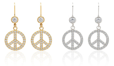 CZ Peace Sign Collection