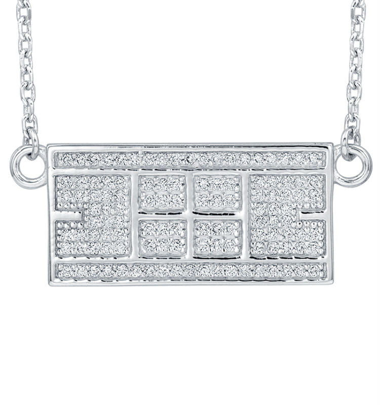 CZ Tennis Court Necklace Medium